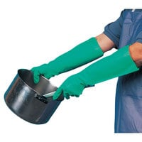 San Jamar 19NUS 19 inch Nitrile Small Pot and Sink Gloves