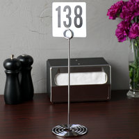 American Metalcraft NSC12 12 inch Chrome Swirl Base Card Holder