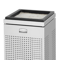 Rubbermaid FGSCSUSS Silhouettes Square Stainless Steel Sand-Top Cigarette Receptacle