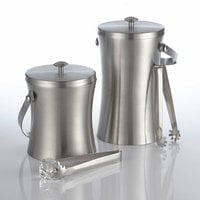 American Metalcraft ISSB6 Double Wall Stainless Steel 1.1 Qt. Ice Bucket with Lid