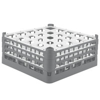 Vollrath 52712 Signature Full-Size Gray 25-Compartment 7 1/8 inch X-Tall Glass Rack