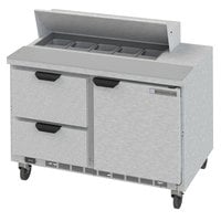 Beverage-Air SPED48HC-10-2 48 inch 1 Door 2 Drawer Refrigerated Sandwich Prep Table
