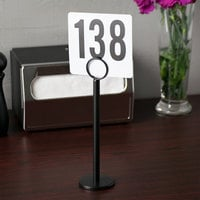Tablecraft BK1908 8 inch Black Flat Bottom Menu / Card Holder