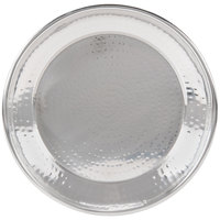 American Metalcraft HMRST1301 13 1/2 inch Round Hammered Stainless Steel Tray