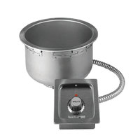 Wells SS10TDUI 11 Qt. Insulated Round Drop-In Soup Well with Drain - Top Mount, Thermostatic Control, 208/240V