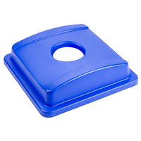 Continental 1725-2 SwingLine Blue Square Recycling Bottle / Can Lid