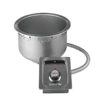 Wells SS10TDUCI 11 Qt. Round Insulated Drop-In Soup Well with Drain and Plug - 120V