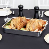 Vollrath 49433 Miramar Display 4.6 Qt. Tri-Ply Large Roasting Food Pan with Handles - 14 11/16 inch x 11 13/16 inch x 2 inch