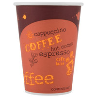 Choice 12 oz. Coffee Print Poly Paper Hot Cup - 1000/Case