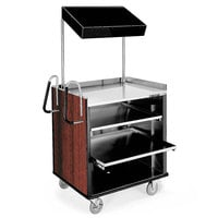 Lakeside 660RM 4 Shelf Stainless Steel Compact Vending Cart with Red Maple Laminate Finish - 28 1/4 inch x 49 inch x 72 1/4 inch