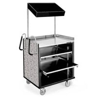 Lakeside 660GS 4 Shelf Stainless Steel Compact Vending Cart with Gray Sand Laminate Finish - 28 1/4 inch x 49 inch x 72 1/4 inch