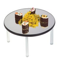 Geneva 2274 15 inch Round Rimless Stacking Mirror Food Display Tray