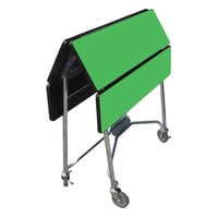 Lakeside 416GS Mobile Square Top Fold-Up Room Service Table with Green Finish - 22 1/4 inch x 36 inch x 30 inch