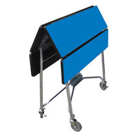 Lakeside 416HRM Mobile Square Top Fold-Up Room Service Table with Royal Blue Finish - 22 1/4 inch x 36 inch x 30 inch
