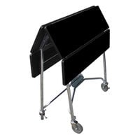 Lakeside 416B Mobile Square Top Fold-Up Room Service Table with Black Finish - 22 1/4 inch x 36 inch x 30 inch
