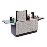 Lakeside 6120GS Mobile Stainless Steel Coffee Kiosk with Gray Sand Laminate Finish - 96 1/4 inch x 30 inch x 56 inch