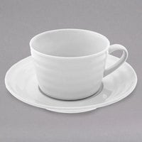 10 Strawberry Street SWNG-9 Swing 9 oz. White Porcelain Oversized Cup / Saucer - 24/Case