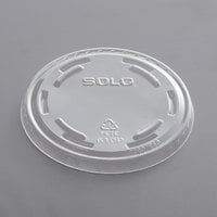 Solo UltraClear 610TP Clear PET Plastic No Slot Lid - 1000/Case