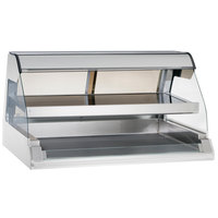 Alto-Shaam ED2-48/2S SS Stainless Steel Two-Tiered Heated Display Case with Curved Glass - Self Service 48 inch