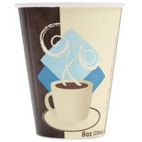 Solo IC8-J7534 Duo Shield 8 oz. Poly Paper Hot Cup - 50/Pack