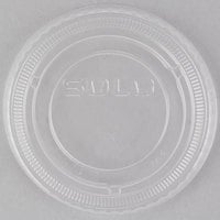 Solo SCCLDSS23 Wide Sauce / Portion Cup Snaptight Lid for 2.5 oz. and 3.5 oz. Cups - 100/Pack