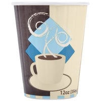 Solo IC12-J7534 Duo Shield 12 oz. Poly Paper Hot Cup - 40/Pack