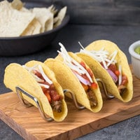 Tablecraft TRW23 Taco Taxi Stainless Steel Taco Holder with 2 or 3 Compartments