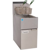 Frymaster ESG35T Natural Gas 35 lb. High Efficiency Floor Fryer with Stainless Steel Pot