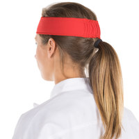 Headsweats 8801-804 Red Customizable High-Performance Fabric Headband