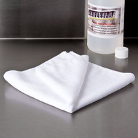 Knuckle Buster MFMP16WH 16 inch x 16 inch White Microfiber Cleaning Cloth - 12/Pack
