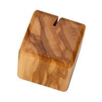 American Metalcraft SOCH 1 1/8 inch x 1 1/8 inch Square Olive Wood Card Holder