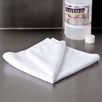 Knuckle Buster MFMP16WH 16 inch x 16 inch White Microfiber Cleaning Cloth