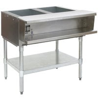 Eagle Group AWT2 Natural Gas Two Pan Water Bath Steam Table - Sealed Well