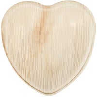 Eco-gecko 6 1/2 inch Heart Sustainable Palm Leaf Plate - 100/Case
