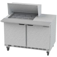 Beverage-Air SPE48HC-12M Elite Series 48 inch 2 Door Mega Top Refrigerated Sandwich Prep Table