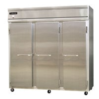 Continental Refrigerator 3FS-HD 78 inch Solid Half Door Shallow Depth Reach-In Freezer