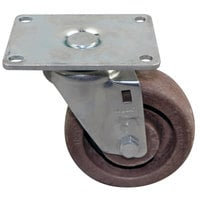 All Points 26-2926 4 inch High Temperature Swivel Plate Caster - 375 lb. Capacity