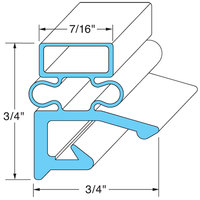 All Points 74-1024 Rubber Magnetic Door Gasket - 24 3/8 inch x 60 11/16 inch