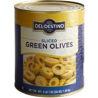 #10 Can Sliced Green Olives - 6/Case