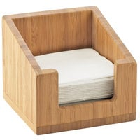 Cal-Mil 3309-60 Bamboo Napkin Holder - 6 1/4 inch x 6 1/4 inch x 5 12 inch