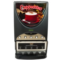Bunn 38100.0003 iMIX-5S+ BLK Powdered Cappuccino Dispenser with 5 Hoppers - 120V