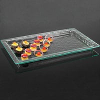 Cal-Mil GL11-43 Glacier 13 inch x 21 inch Rectangular Faux Glass Tray