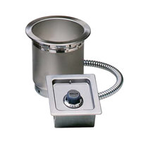 Wells SS4TUCI 4 Qt. Round Insulated Drop In Soup Well with Cord - Top Mount, Thermostatic Control, 120V