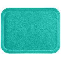 Carlisle 1410FG051 Customizable 10 inch x 14 inch Glasteel Teal Fiberglass Tray - 12/Case
