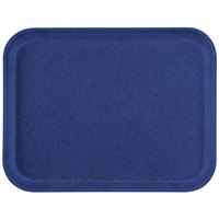 Carlisle 1410FG050 Customizable10 inch x 14 inch Glasteel Sapphire Blue Fiberglass Tray - 12/Case