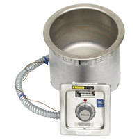 Wells SS8TDUI 7 Qt. Round Insulated Drop In Soup Well with Drain - Top Mount, Thermostatic Control, 120V
