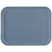 Carlisle 1410FG067 Customizable 10 inch x 14 inch Glasteel Slate Blue Fiberglass Tray - 12/Case