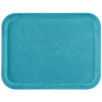 Carlisle 1410FG006 Customizable10 inch x 14 inch Glasteel Ultramarine Fiberglass Tray - 12/Case
