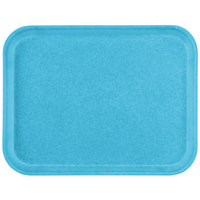 Carlisle 1410FG011 Customizable 10 inch x 14 inch Glasteel Turquoise Fiberglass Tray - 12/Case