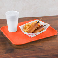 Carlisle 1410FG018 Customizable10 inch x 14 inch Glasteel Orange Fiberglass Tray - 12/Case